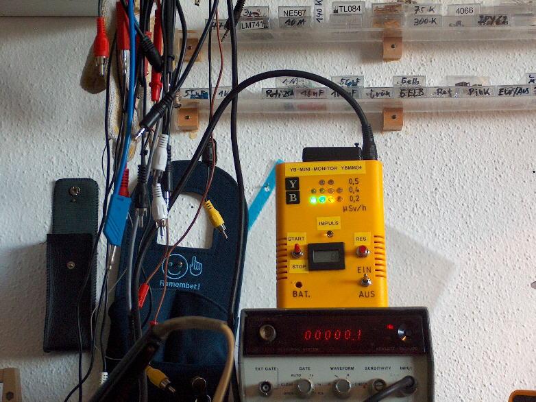 YBMM04 und externer Frequenzzähler