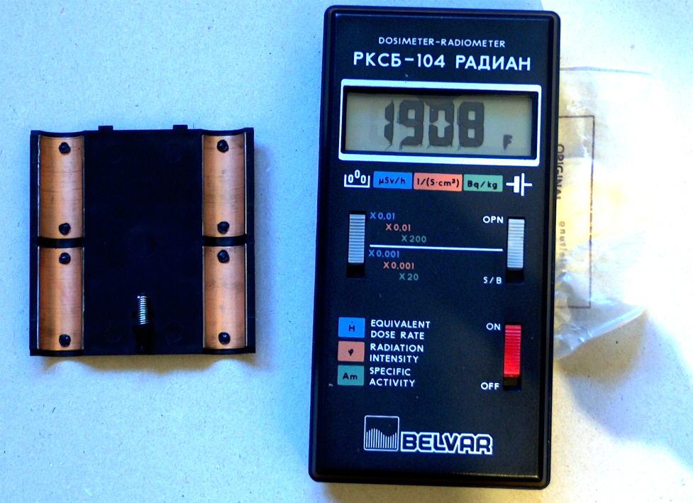 Äquivalentdosis messen an einem Thorium Glühstrumpf