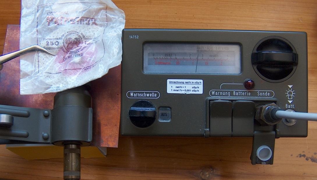 Messung der natürlicen Hintergrundstrahlung mit dem SV500