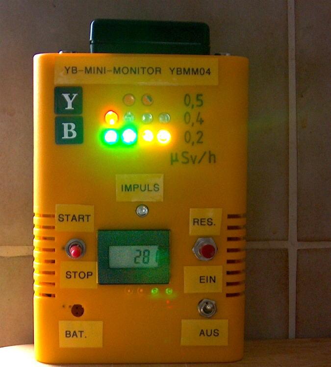 YBMM02 BAumaterial auf Radioaktive BEimischungen testen