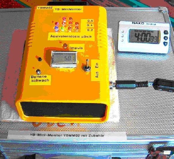 Teilchenflussdichte von Oberflächen messen mit dem YB-Mini-Monitor