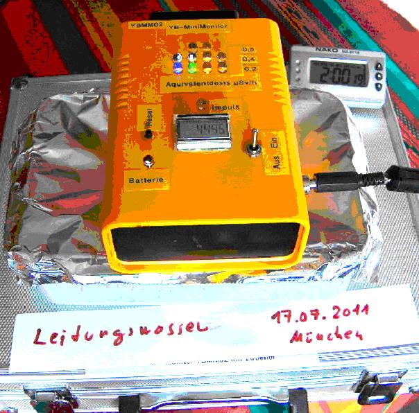 Trinkwasser auf Radioaktivität überprüfen mit dem YB-Mini-Monitor