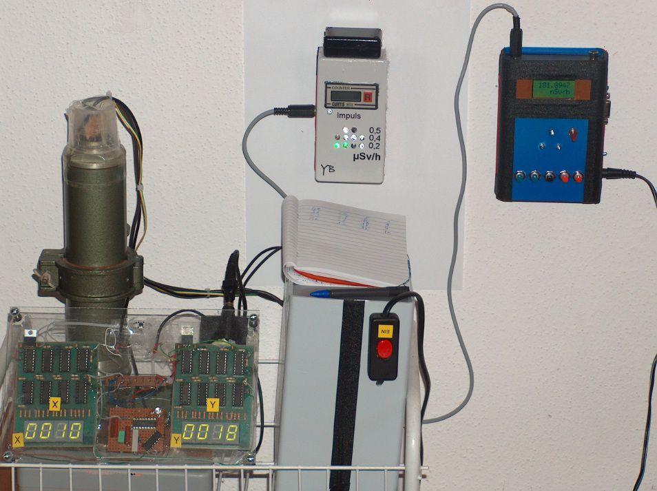 Alpha-Detektor Testaufbau