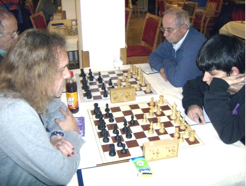 Schachspiel im Schachverein